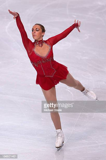 Jenna McCorkell of Great Britain during the Ladies Short Program on day one of the ISU Grand Prix of Figure Skating Trophee Eric Bompard at...