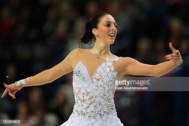 Jenna McCorkell of Great Britain in action during the Ladies Free Skating during the ISU European Figure Skating Championships at Motorpoint Arena on...