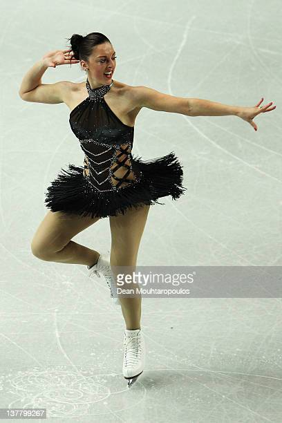 Jenna McCorkell of Great Britain performs in the Ladies Short Program during the ISU European Figure Skating Championships at Motorpoint Arena on...