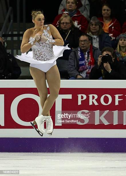 Jenna McCorkell of Great Britain skates in the Ladies Free Skating Program during the 2013 ISU World Figure Skating Championships at Budweiser...