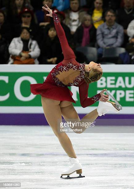 Jenna McCorkell of Great Britain skates in the Ladies Short Program during the 2013 ISU World Figure Skating Championships at Budweiser Gardens on...
