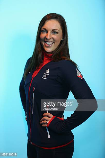 Jenna McCorkell of Team GB Figure Skating poses for a portrait during the kitting out day at adidas on January 20 2014 in Stockport England