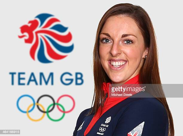 Jenna McCorkell of the Team GB Figure Skating team poses for a portrait during the Team GB Kitting Out on January 20 2014 in Stockport England
