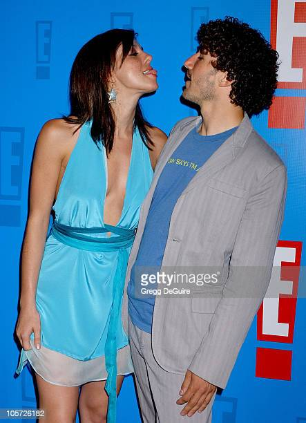 Jenna Morasca and Ethan Zohn during E Entertainment Television's 2005 Summer Splash Event Arrivals at Tropicana at The Hollywood Roosevelt Hotel in...