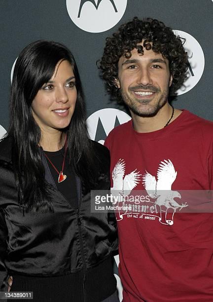 Jenna Morasca and Ethan Zohn during Maria Sharapova's 18th Birthday Celebration Hosted by Motorola at Hiro Ballroom in New York City New York United...