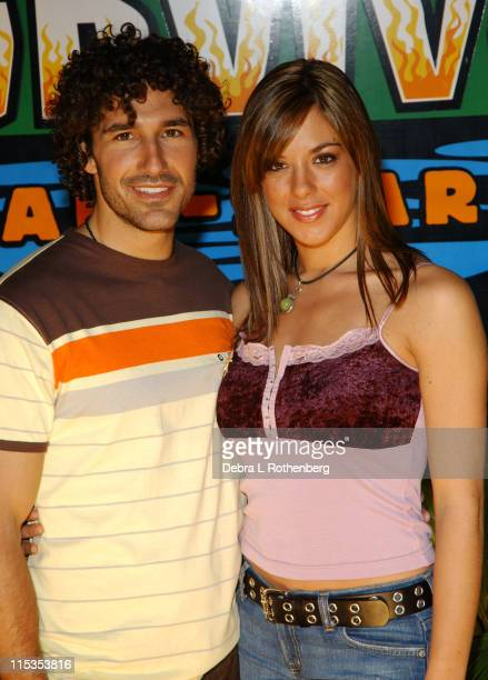 Jenna Morasca and Ethan Zohn during Survivor All Stars The Final Episode at Madison Square Garden in New York City New York United States
