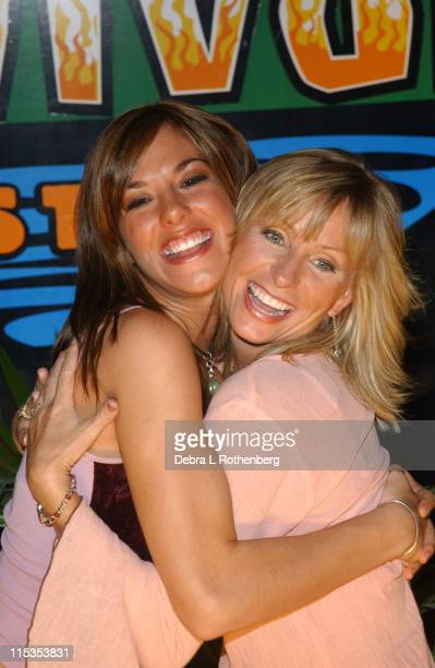Jenna Morasca and Tina Wesson during Survivor All Stars The Final Episode at Madison Square Garden in New York City New York United States
