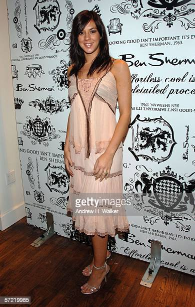 Jenna Morasca attends the launch of Ben Sherman's first official US Flagship Store on March 30 2006 in New York City