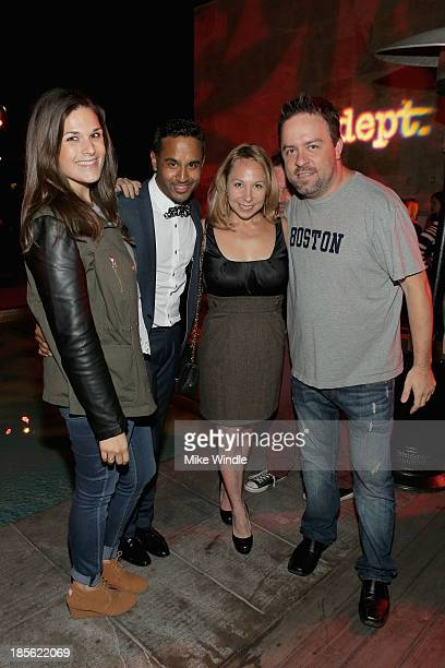 Jenna Oppenheim Chet Mehta Jen Birn and Russ Weakland attend PR DEPT Celebrates #onedown 1 Year Anniversary Party at Thompson Hotel on October 22...