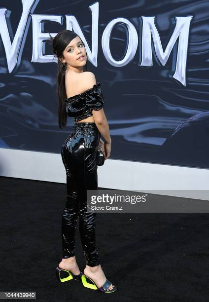 Jenna Ortega arrives at the Premiere Of Columbia Pictures' Venom at Regency Village Theatre on October 1 2018 in Westwood California