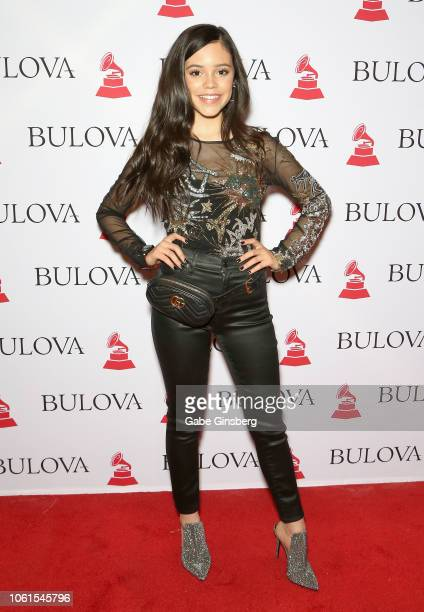 Jenna Ortega attends the gift lounge during the 19th annual Latin GRAMMY Awards at MGM Grand Hotel Casino on November 14 2018 in Las Vegas Nevada