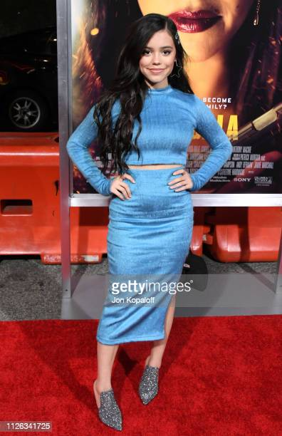"""Jenna Ortega attends the premiere of Columbia Pictures' """"Miss Bala at Regal LA Live Stadium 14 on January 30, 2019 in Los Angeles, California."""
