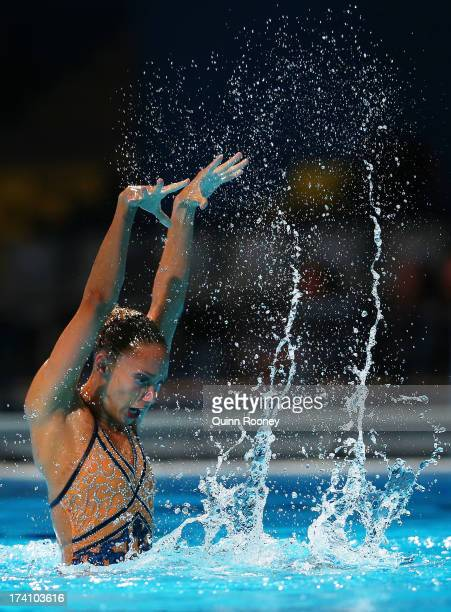 Jenna Randall of Great Britain competes in the Synchronized Swimming Solo Technical final on day one of the 15th FINA World Championships at Palau...