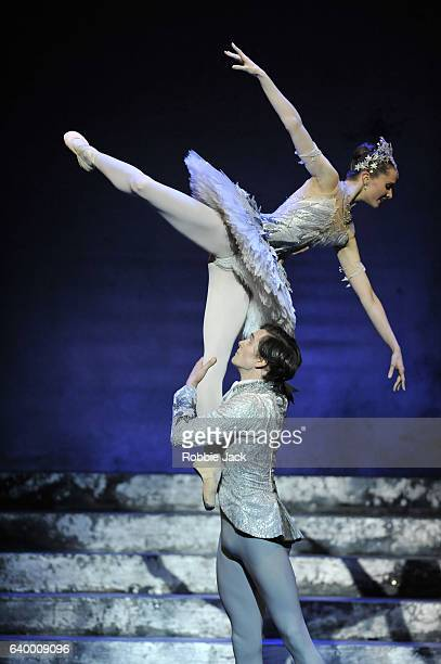 Jenna Roberts as Cinderella and William Bracewell as The Prince in Birmingham Royal Ballet's production of David Bintley's Cinderella at The...