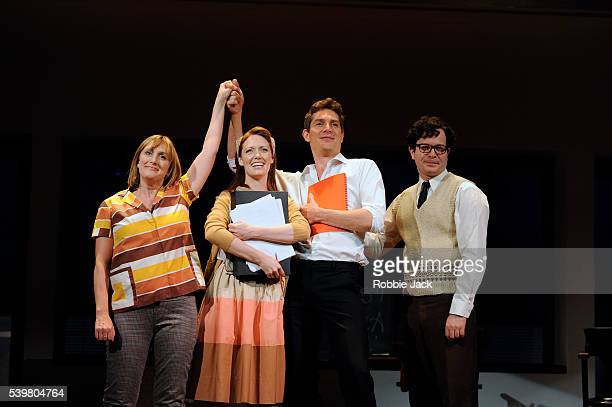 Jenna Russell as Mary Flynn Josefina Gabrielle as Gussie Mark Umbers as Franklin Shepard and Damian Humbley as Charley Kringas in Stephen Sondheim...