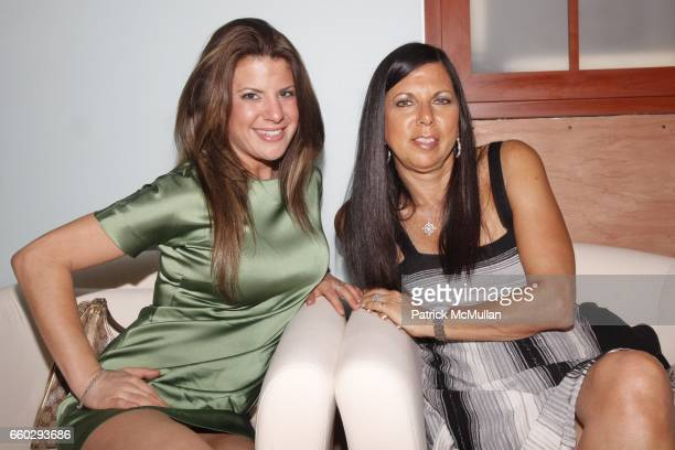 Jenna Spector and Andrea Spector attend RODOLFO VALENTIN'S Salon & Spa Preview Party at 694 Madison Avenue on June 15, 2009 in New York City.