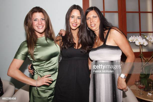 Jenna Spector, Rachel Spector and Andrea Spector attend RODOLFO VALENTIN'S Salon & Spa Preview Party at 694 Madison Avenue on June 15, 2009 in New...