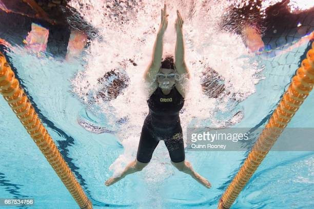 Jenna Strauch of Australia competes in the Women's 200m Breaststroke during the 2017 Australian Swimming Championships at the Sleeman Sports Complex...