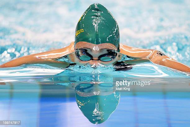 Jenna Straunch of Australia competes in the Women's 200m Breaststroke Final during day five of the Australian Youth Olympic Festival at Sydney...