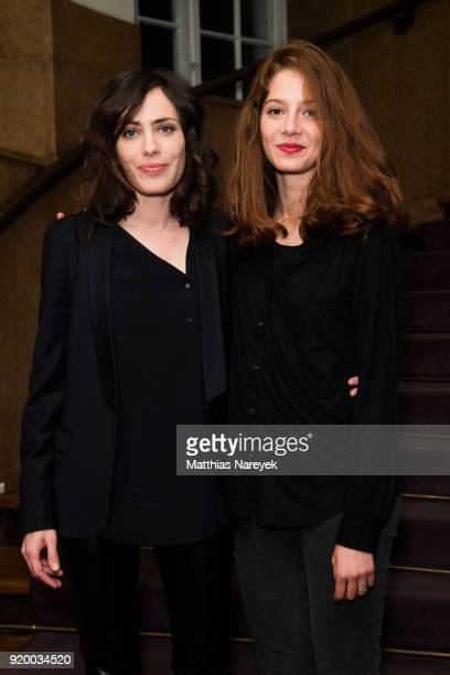 Jenna Thiam and Sophie Verbeeck and attend the reception of 'A Paris Education' during the 68th Berlinale International Film Festival Berlin at on...