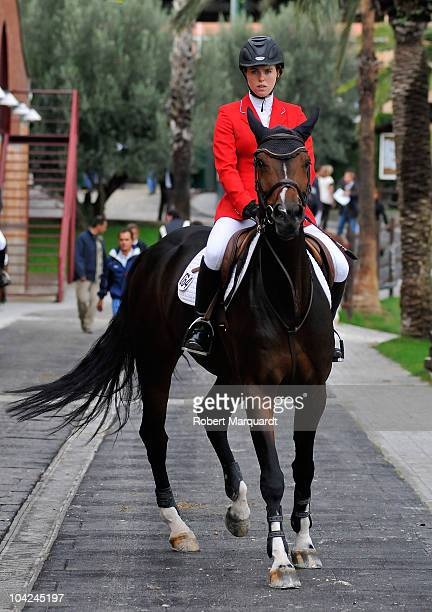 Jenna Thompson of Canada attends the CSIO 99th International Show Competition at the Real Club de Polo de Barcelona on September 18 2010 in Barcelona...