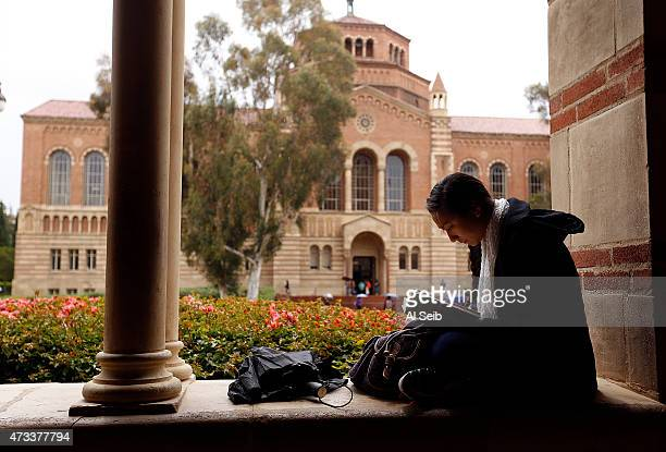 Jenna Tokeshi a senior studies at the UCLA campus on May 14 2015 as California students at the University of California are getting a twoyear...