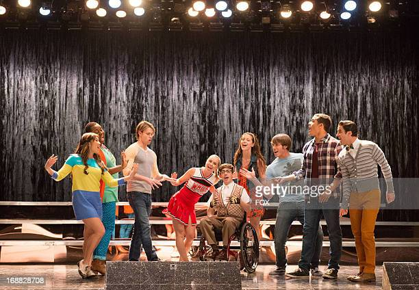 Jenna Ushkowitz Alex Newell Chord Overstreet Becca Tobin Kevin McHale Melissa Benoist Blake Jenner Jacob Artist and Darren Criss star in the Lights...