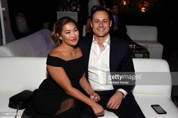 Jenna Ushkowitz and David Stanley attend the 5th Adopt Together Baby Ball Gala on October 12, 2019 in Los Angeles, California.