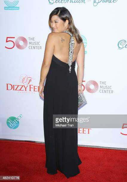 Jenna Ushkowitz arrives at The Dizzy Feet Foundation's 4th Annual Celebration of Dance Gala held at Dorothy Chandler Pavilion on July 19, 2014 in Los...