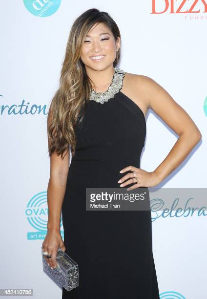 Jenna Ushkowitz arrives at The Dizzy Feet Foundation's 4th Annual Celebration of Dance Gala held at Dorothy Chandler Pavilion on July 19 2014 in Los...