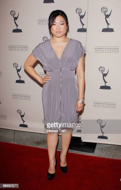 Jenna Ushkowitz arrives to the Academy Of Television Arts Sciences' an evening with GLEE held at Leonard H Goldenson Theatre on April 26 2010 in...