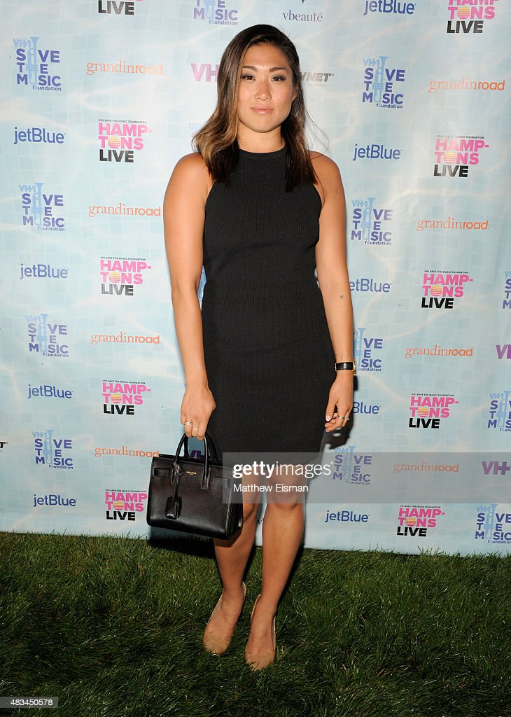 Jenna Ushkowitz at VH1 Save The Music Foundation's 'Hamptons Live' benefit hosted by Billy and Julie Macklowe at a private estate in Sagaponack, NY on August 8, 2015.