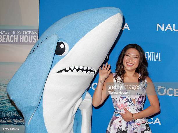 Jenna Ushkowitz attends the 3rd annual Nautica Oceana beach house party at Marion Davies Guest House on May 8, 2015 in Santa Monica, California.