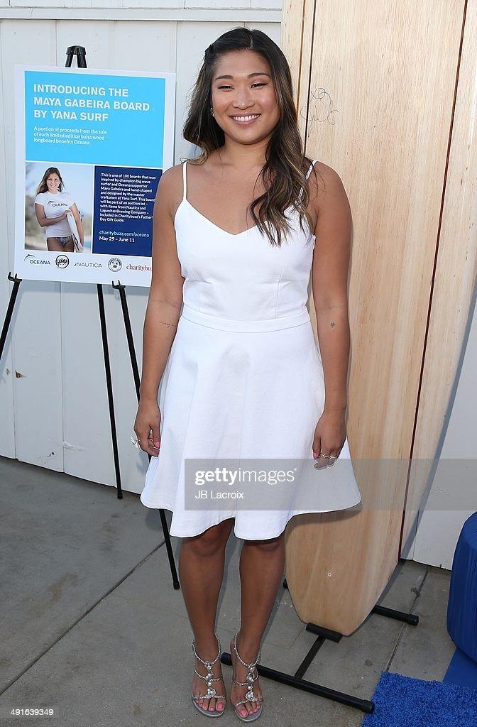Jenna Ushkowitz attends the Nautica and LA Confidential's Oceana Beach House Party on May 16, 2014 in Santa Monica, California.