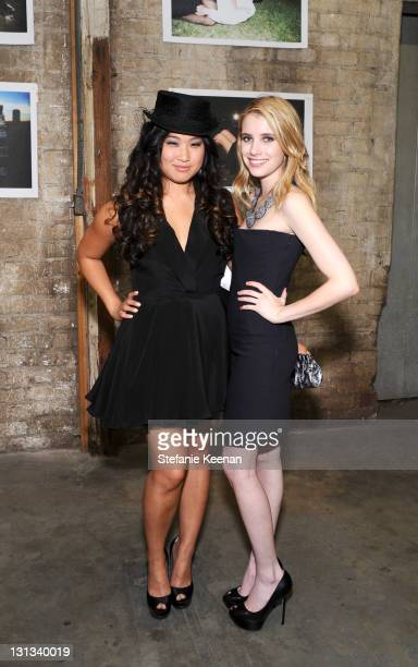Jenna Uskowitz and Emma Roberts attend Tyler Shields Presents 'Life Is Not A Fairytale' in May 7 2011 in Los Angeles California