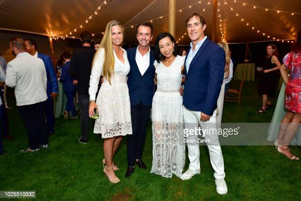 Jenna Weinfurt Frederico Acevedo Debi Lee and Alex Cohen attend Peebles Corporation And RollsRoyce Saddle Up With Georgina Bloomberg Give Back For...