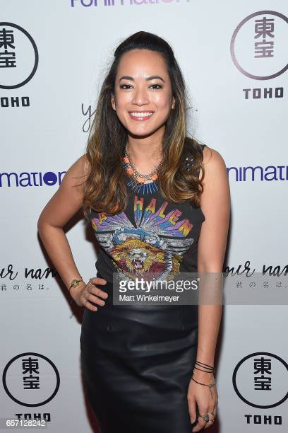 Jennalee Reyes attends Funimation Films presents 'Your Name' Theatrical Premiere in Los Angeles CA at Yamashiro Hollywood on March 23 2017 in Los...