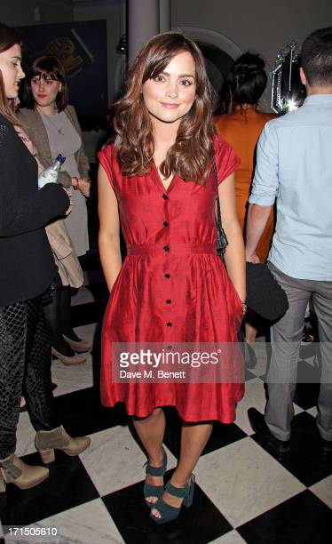 JennaLouise Coleman attends an after party celebrating the press night performance of 'Charlie And The Chocolate Factory' at The Grand Connaught...