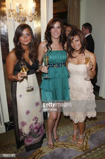 JennaLouise Coleman Verity Rushworth and Roxanne Pallett attend the TV Quick and TV Choice Awards at the Dorchester Hotel on September 03 2007 in...