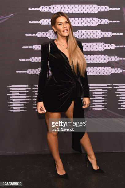 Jenne Lombardo arrives at the Savage X Fenty Fall/Winter 2018 fashion show during NYFW at the Brooklyn Navy Yard on September 12 2018 in Brooklyn NY