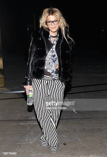 Jenne Lombardo attends the Alexander Wang fall 2012 fashion show at Pier 94 on February 11 2012 in New York City