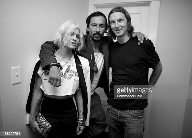 Jenne Lombardo Haider Ackermann and Neville Wakefield attend a celebration hosted by Playboy and Neville Wakefield of the iconic Playmate Of The Year...