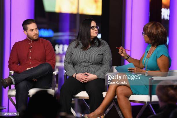 Jenner Furst Nicole Browder and Gayle King speak onstage during TIME AND PUNISHMENT A Town Hall Discussion with JAY Z and Harvey Weinstein on Spike...