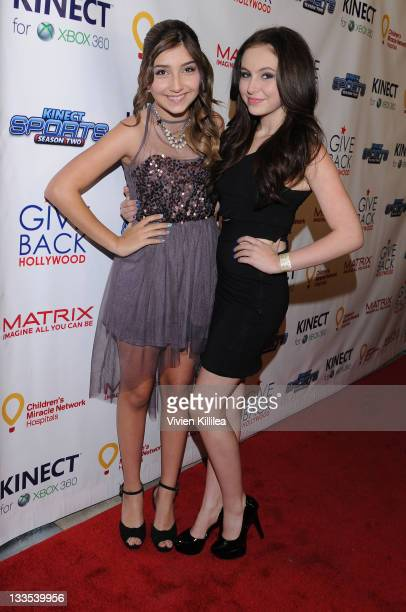 Jennessa Rose and Temara Melek attend the XBOX Miracle Of Music Benefit In Honor Of The 2011 AMAs Hosted By Kevin Jonas And Special Guest DJ...