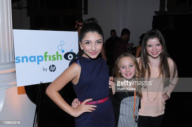 Jennessa Rose Ellery Sprayberry and Jadin Gould attend ABC's 'Extreme Makeover Home Edition' Season 9 Premiere on September 25 2011 in Los Angeles...