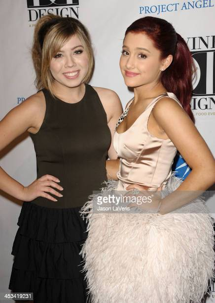 Jennette McCurdy and Ariana Grande attend Project Angel Food's 2011 Divine Design Gala at The Beverly Hilton hotel on December 7 2011 in Beverly...