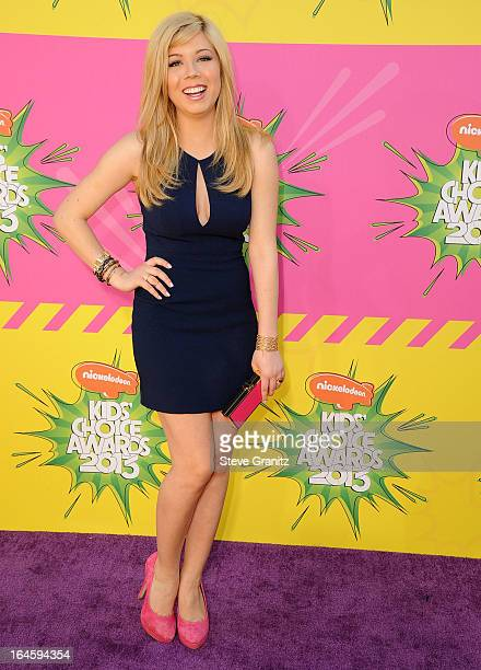 Jennette McCurdy arrives at the Nickelodeon's 26th Annual Kids' Choice Awards at USC Galen Center on March 23, 2013 in Los Angeles, California.