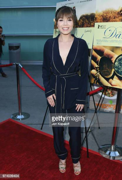 Jennette McCurdy attends Magnolia Pictures' 'Damsel' Premiere at ArcLight Hollywood on June 13 2018 in Hollywood California