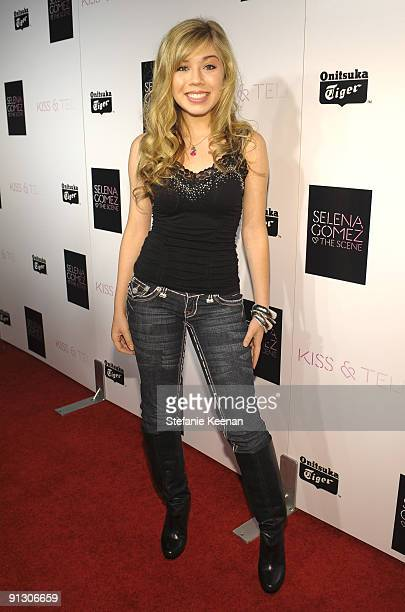 Jennette McCurdy attends the release party for the new album Kiss Tell by Selena Gomez and The Scene at Siren Studios on September 30 2009 in...