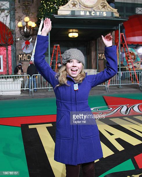 Jennette McCurdy poses during day two of the 86th Anniversary Macy's Thanksgiving Day Parade Rehearsals at Macy's Herald Square on November 20 2012...